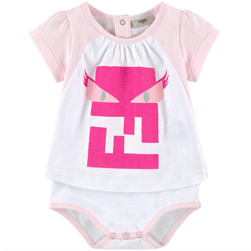 Fendi Baby Girls 'Monster' Onesie Baby Rompers & Onesies Fendi [Petit_New_York]