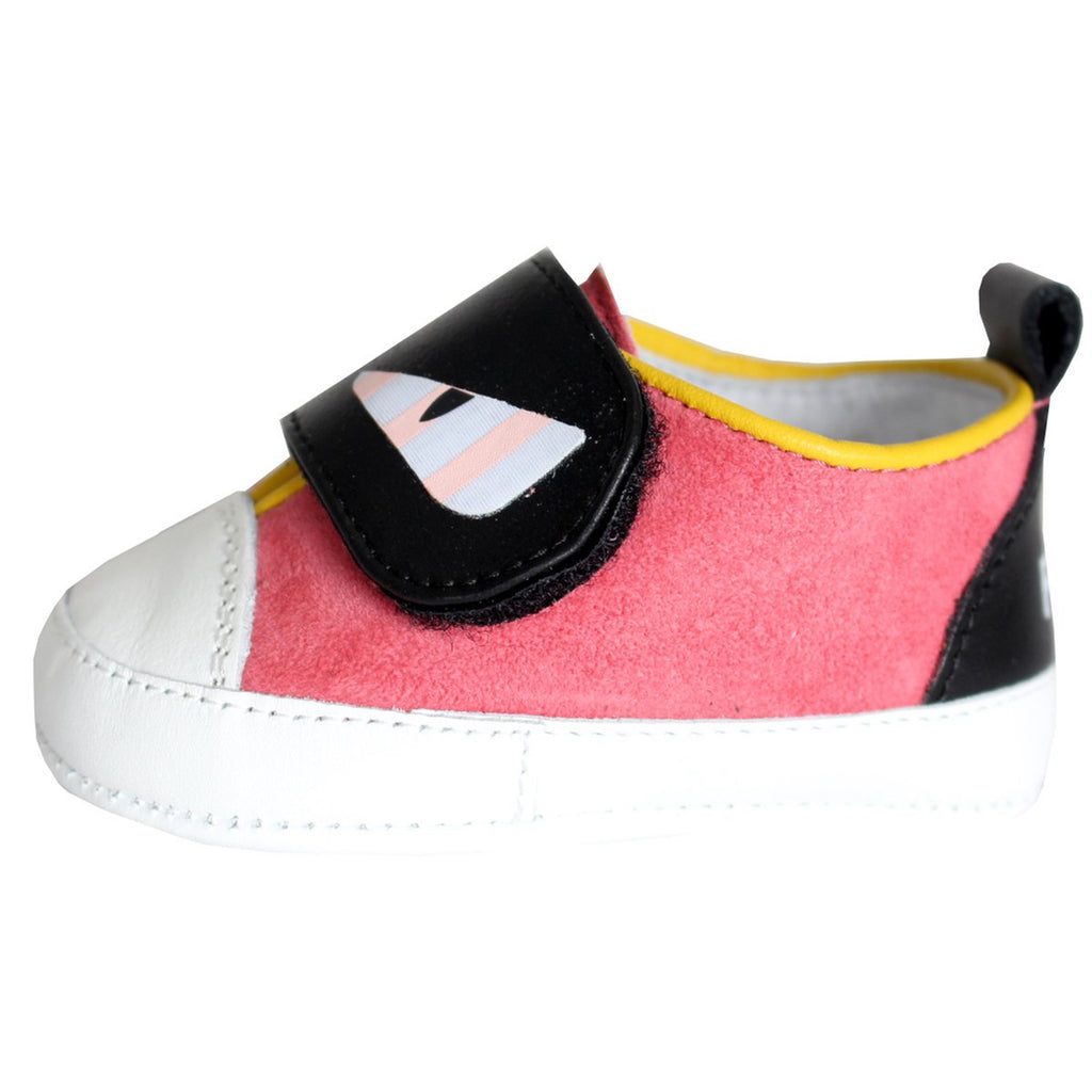 Fendi Baby Girls Pink 'Monster' Shoes