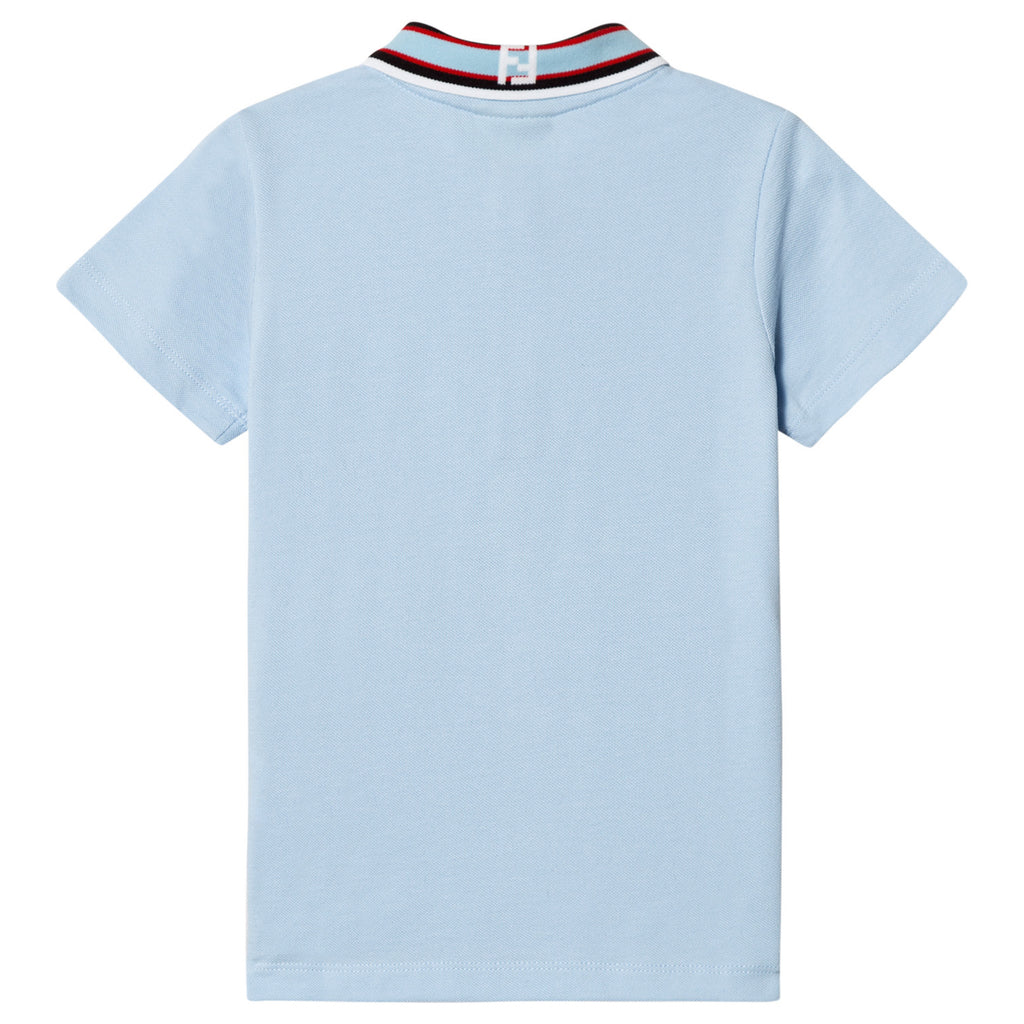 Boys Blue Piqué Logo Polo Shirt