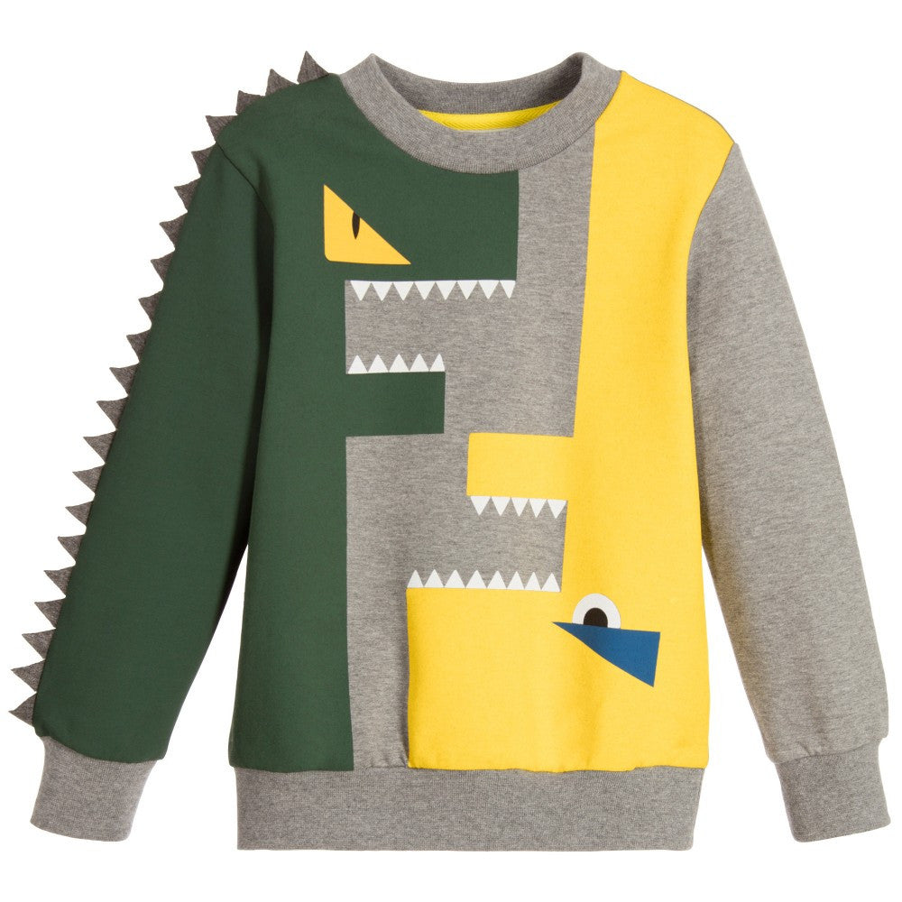 Fendi Boys Monster Ff Logo Spiked Sweater Petit New York