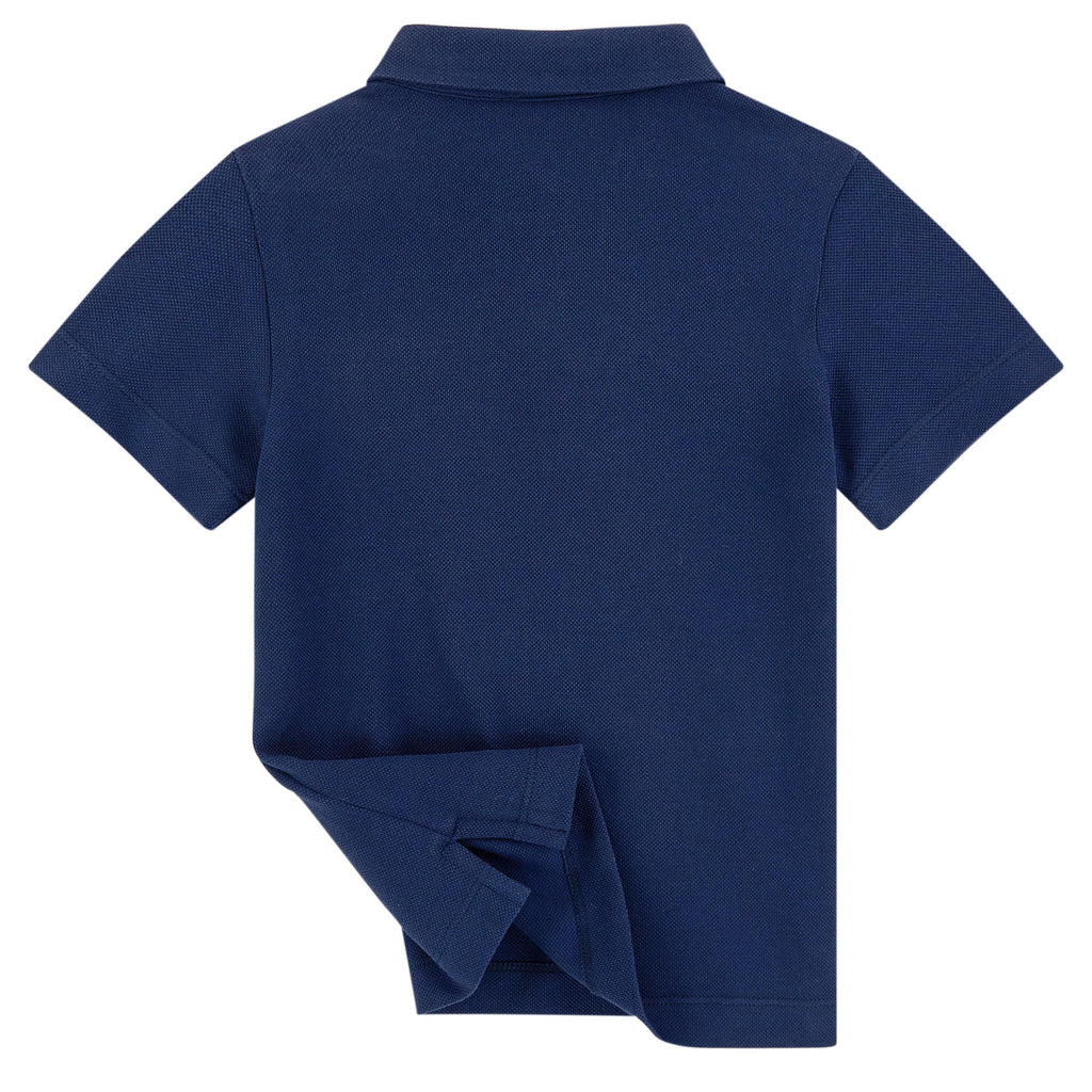 Boys Navy Blue Logo Polo Shirt