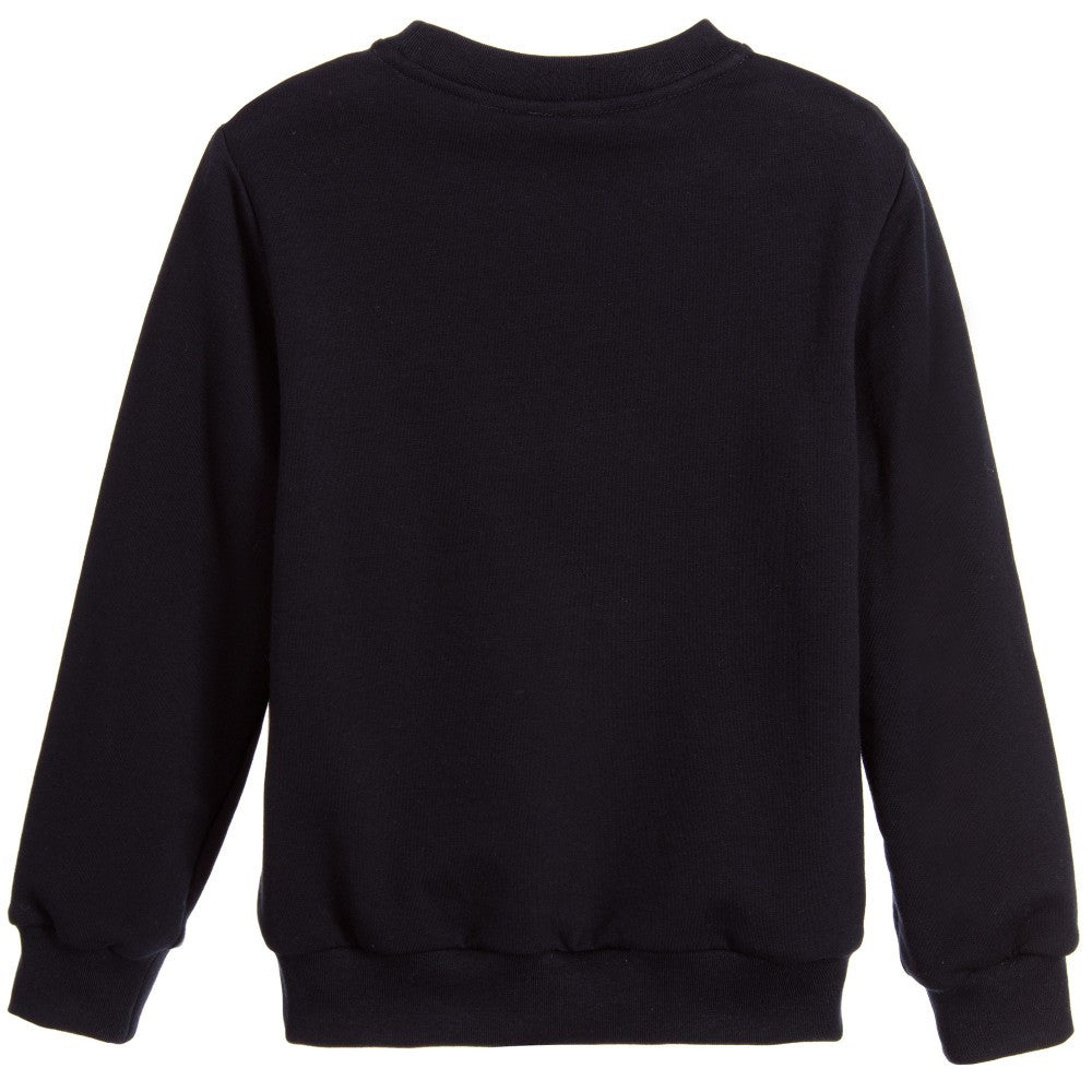 Fendi Boys Dark Navy Blue 'Monster' Robot Sweatshirt Boys Sweaters & Sweatshirts Fendi [Petit_New_York]