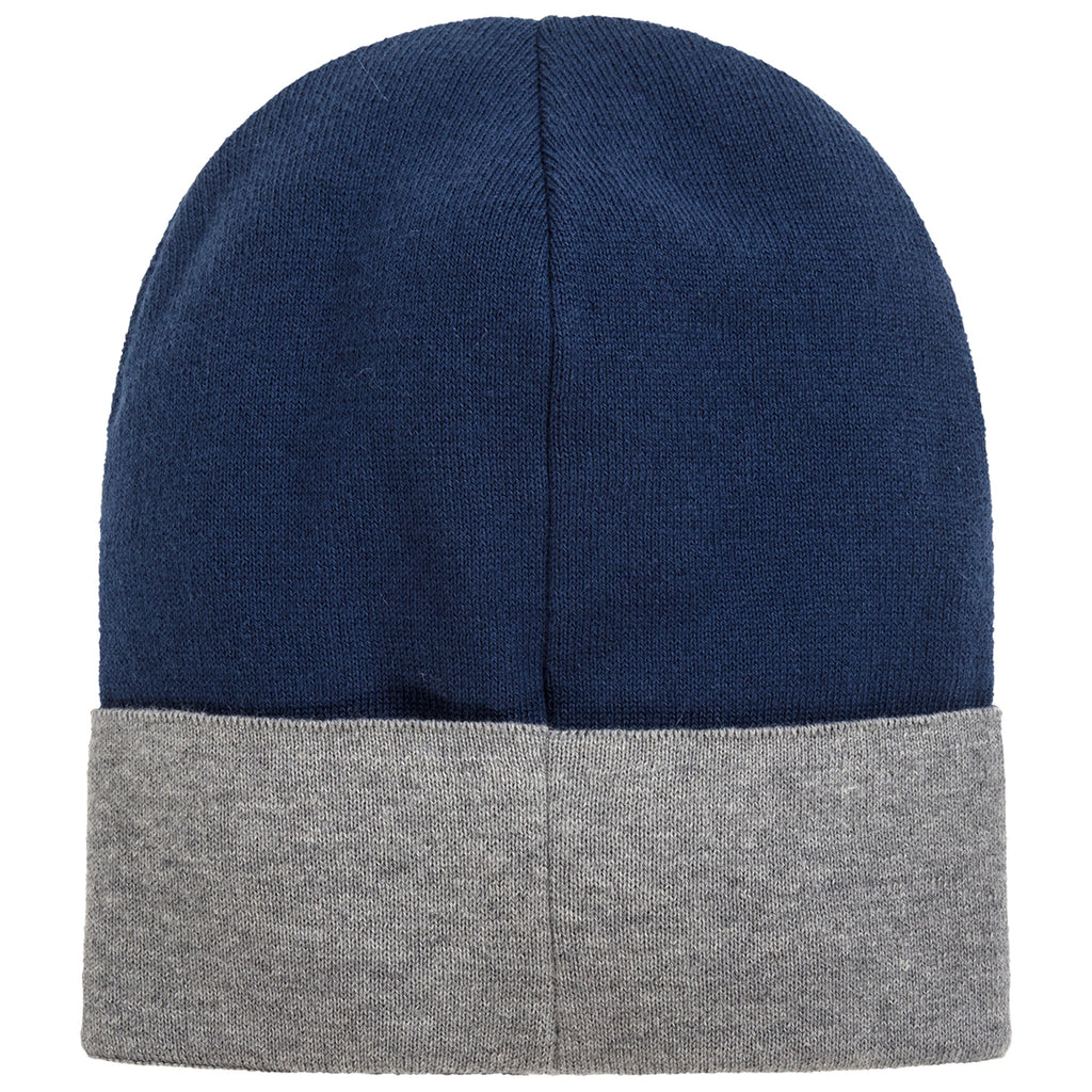 Boys Navy Blue Soft Cashmere Knitted Logo Beanie