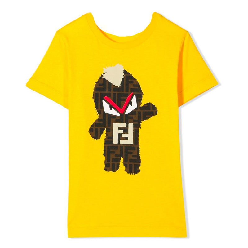Boys Yellow 'Monster' Logo T-shirt