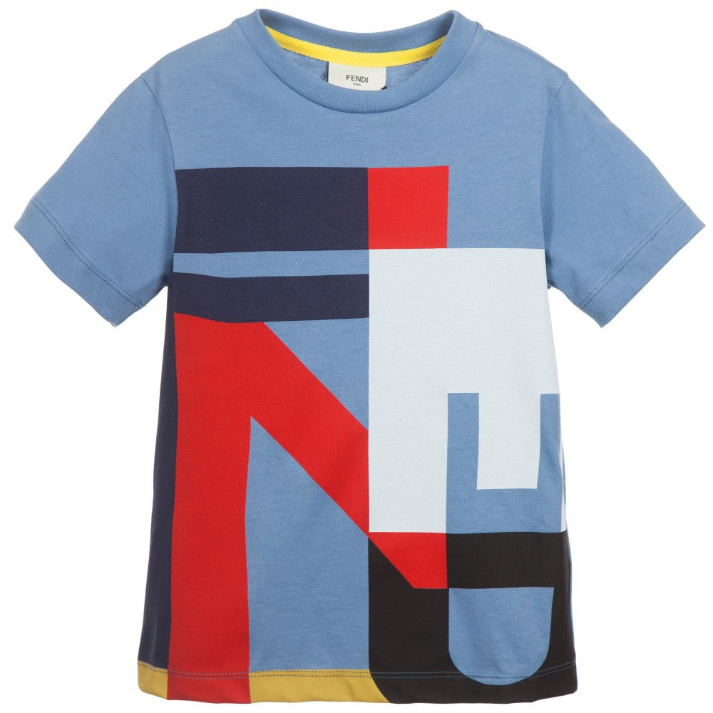 Fendi Boys Graphic Logo T-shirt Boys T-shirts Fendi [Petit_New_York]
