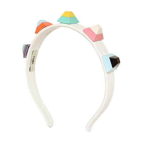 Fendi Girls Colorful Studded Headband Accessories Fendi [Petit_New_York]