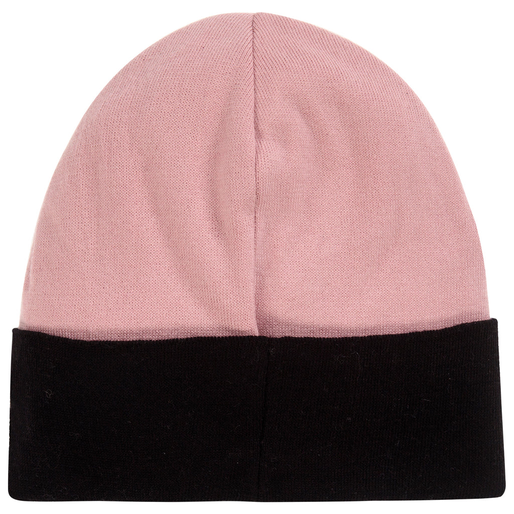 Girls Soft Pink Cashmere Knitted Logo Beanie