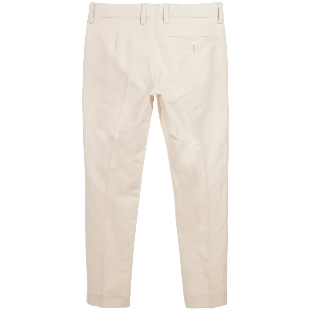 Fendi Boys Beige Pants Boys Pants Fendi [Petit_New_York]