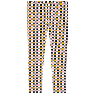 Fendi Girls Checked Leggings Girls Leggings Fendi [Petit_New_York]