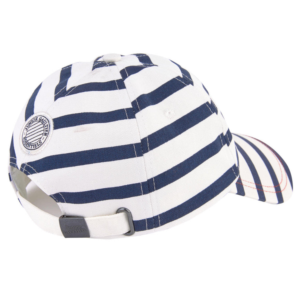 Junior Gaultier Boys & Girls Unisex Striped Cap Boys Hats, Scarves & Gloves Junior Gaultier [Petit_New_York]