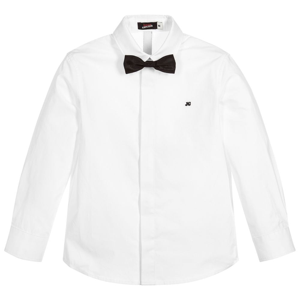 Junior Gaultier Boys White Fancy Shirt Boys Shirts Junior Gaultier [Petit_New_York]