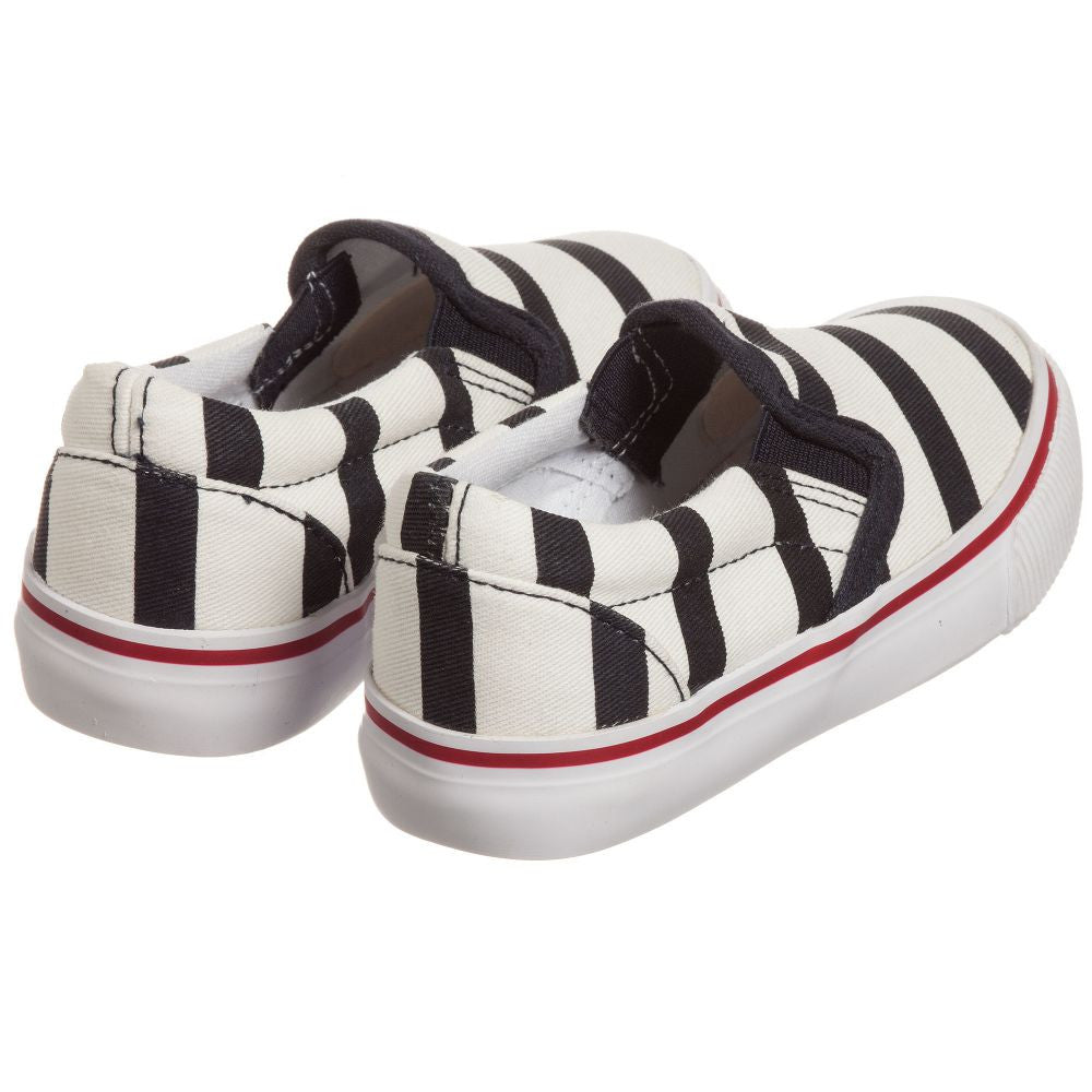 Junior Gaultier Boys & Girls Unisex Striped Canvas Slip-On Shoes | New Collection Boys Shoes Junior Gaultier [Petit_New_York]