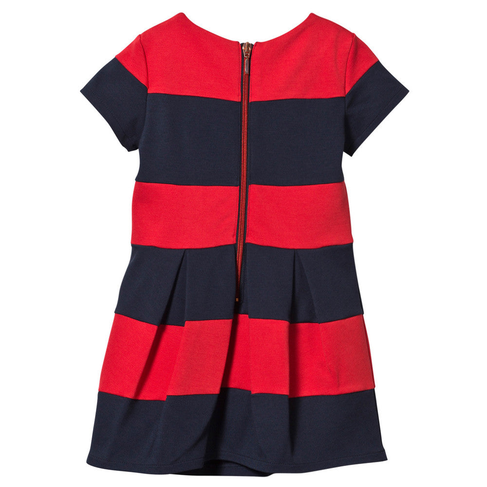 Gaultier Girls Navy & Red Milano Dress Girls Dresses Junior Gaultier [Petit_New_York]
