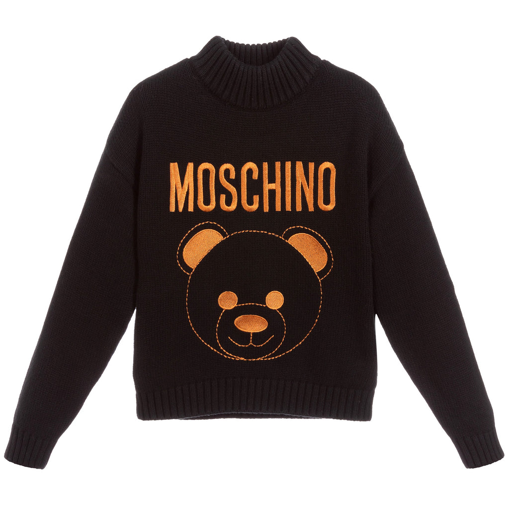 Girls Black with Bronze Bear Logo Sweater (Mini-Me)