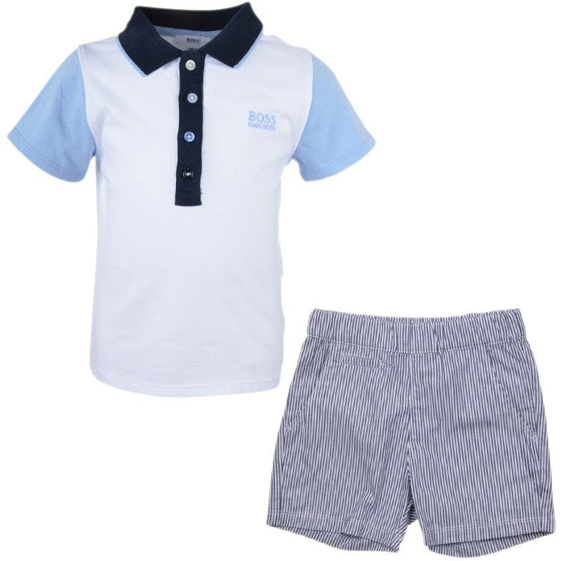 Hugo Boss Baby Boys Two-Piece Gift Set Baby Sets & Suits Boss Hugo Boss [Petit_New_York]