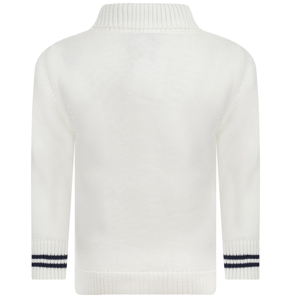 Hugo Boss Baby Ivory White Knitted Cardigan Baby Tops Boss Hugo Boss [Petit_New_York]