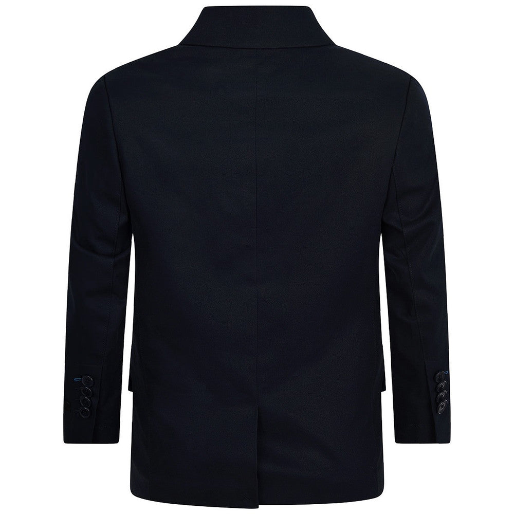 Hugo Boss Boys Navy Blazer with Blue Lining and Pocket Square Boys Suits & Blazers Boss Hugo Boss [Petit_New_York]