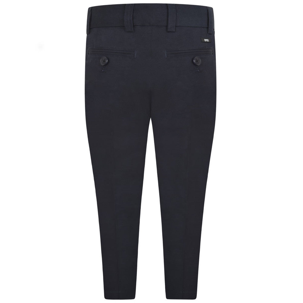 Hugo Boss Boys Navy Blue Suit Pants Boys Pants Boss Hugo Boss [Petit_New_York]