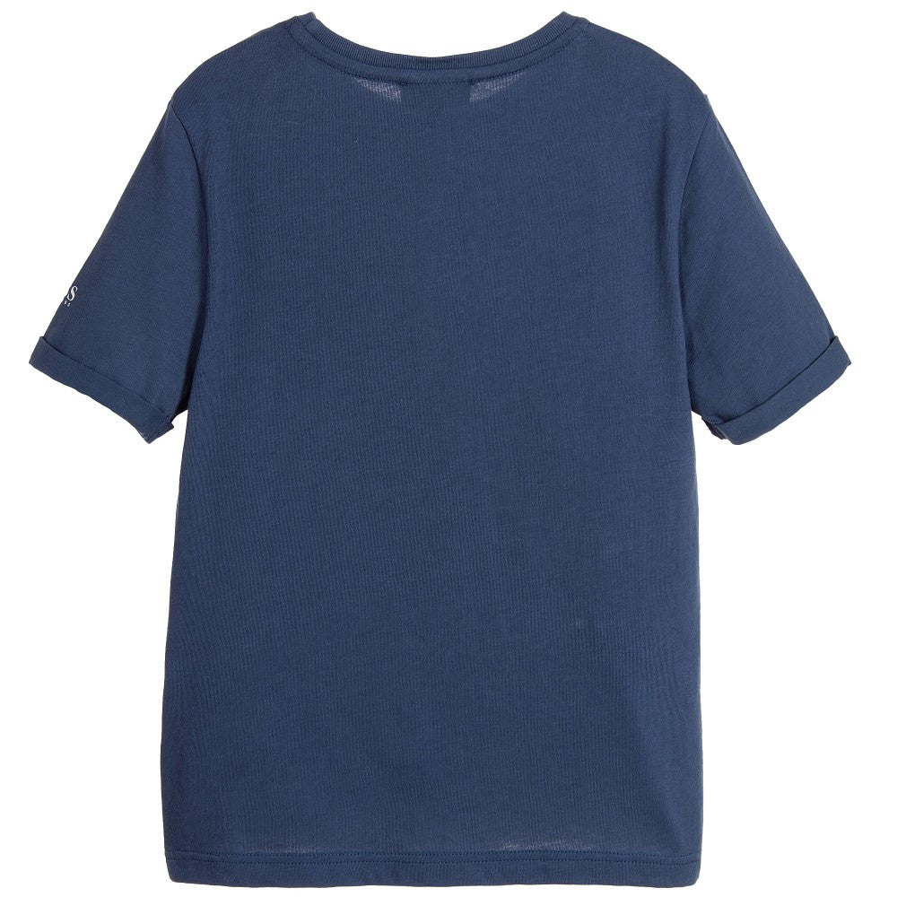 Hugo Boss Boys Blue Surfer Print T-shirt Boys T-shirts Boss Hugo Boss [Petit_New_York]