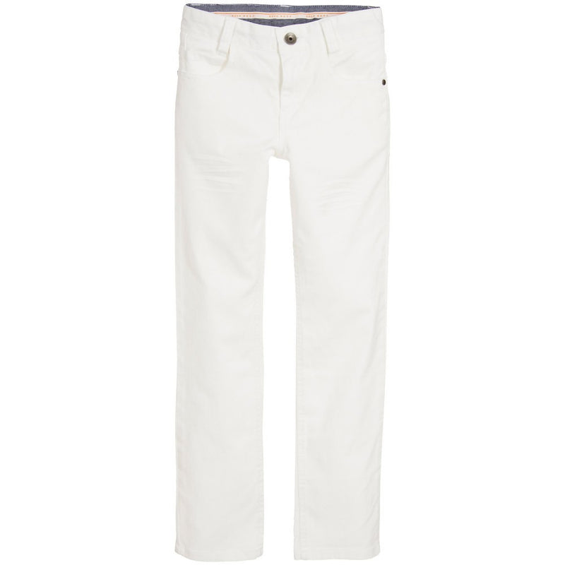 Hugo Boss Boys White Jeans Pants Boys Pants Boss Hugo Boss [Petit_New_York]
