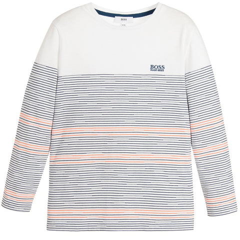 Junior Gaultier Boys & Girls Unisex Striped Cap | New Collection