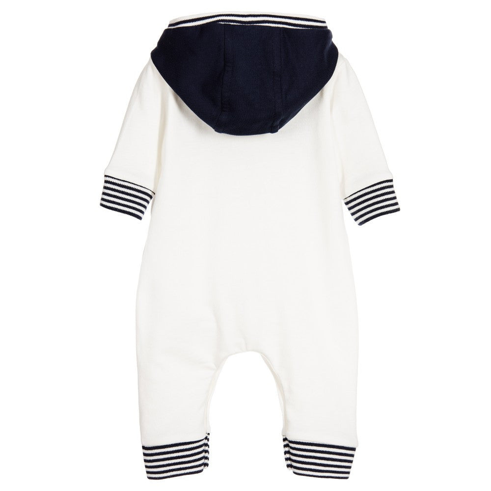 Hugo Boss Baby Boys White Fleece Onesie Baby Rompers & Onesies Boss Hugo Boss [Petit_New_York]