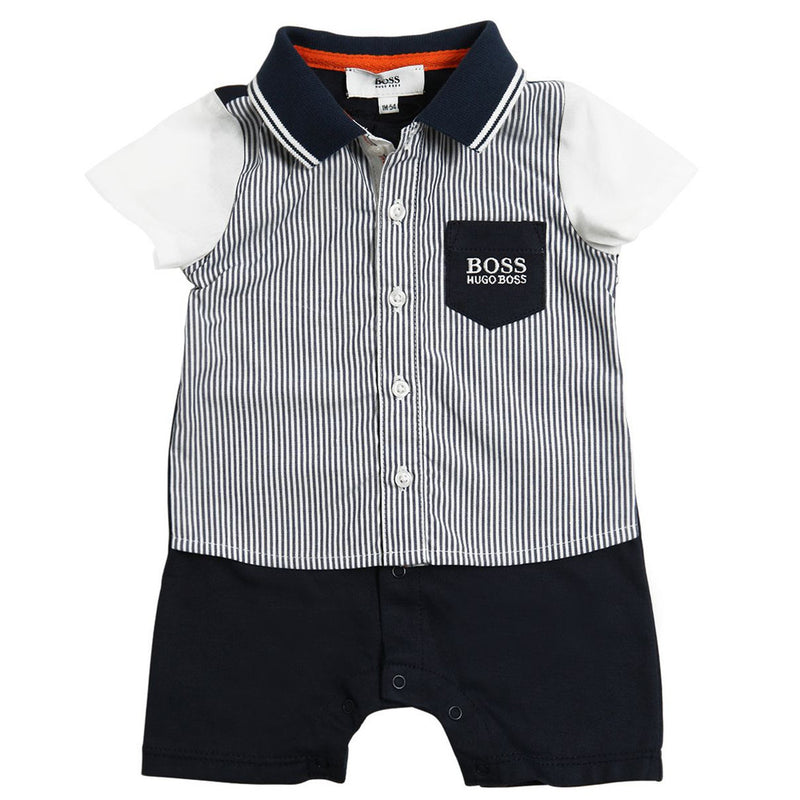 Hugo Boss Baby Boys Dressy Romper Baby Rompers & Onesies Boss Hugo Boss [Petit_New_York]