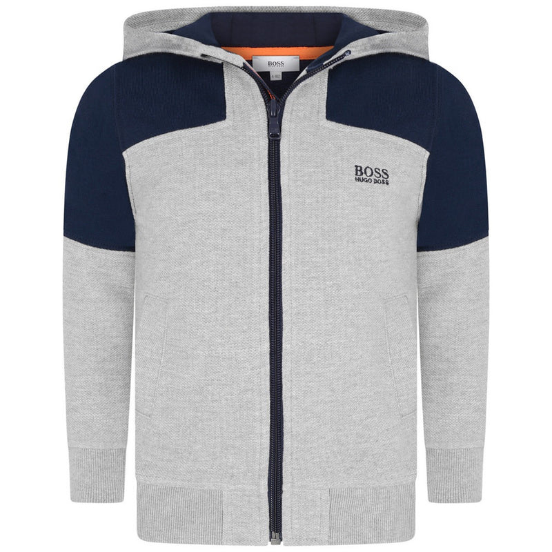 hugo boss sweater grey