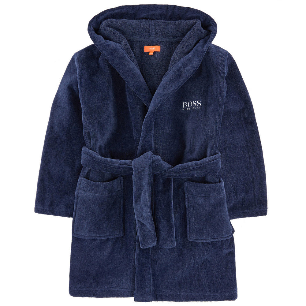 Hugo Boss Boys Logo Bathrobe With Hood Accessories Boss Hugo Boss [Petit_New_York]