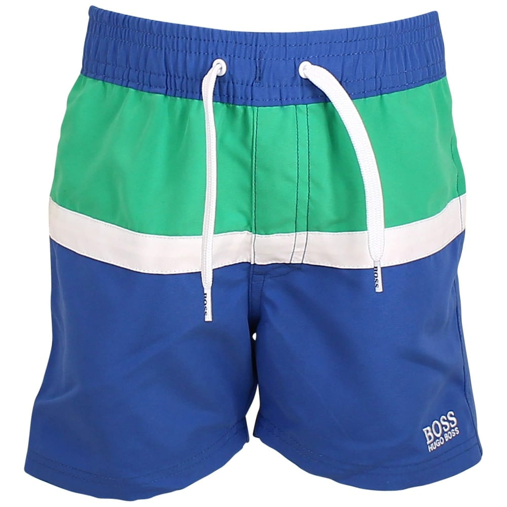 Hugo Boss Boys Swim Shorts Boys Swimwear Boss Hugo Boss [Petit_New_York]