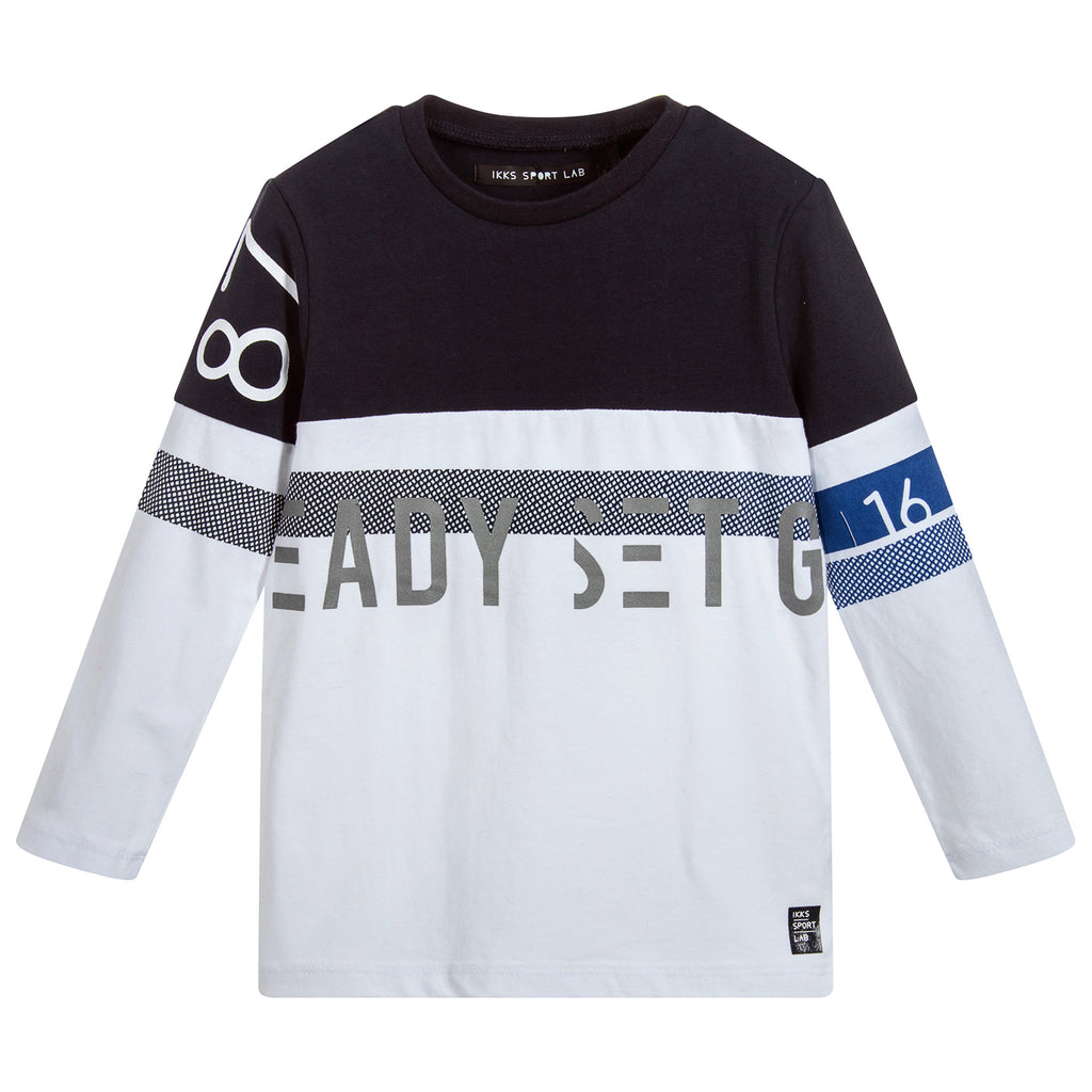 IKKS Boys Contrast Sporty Long-Sleeved T-shirt