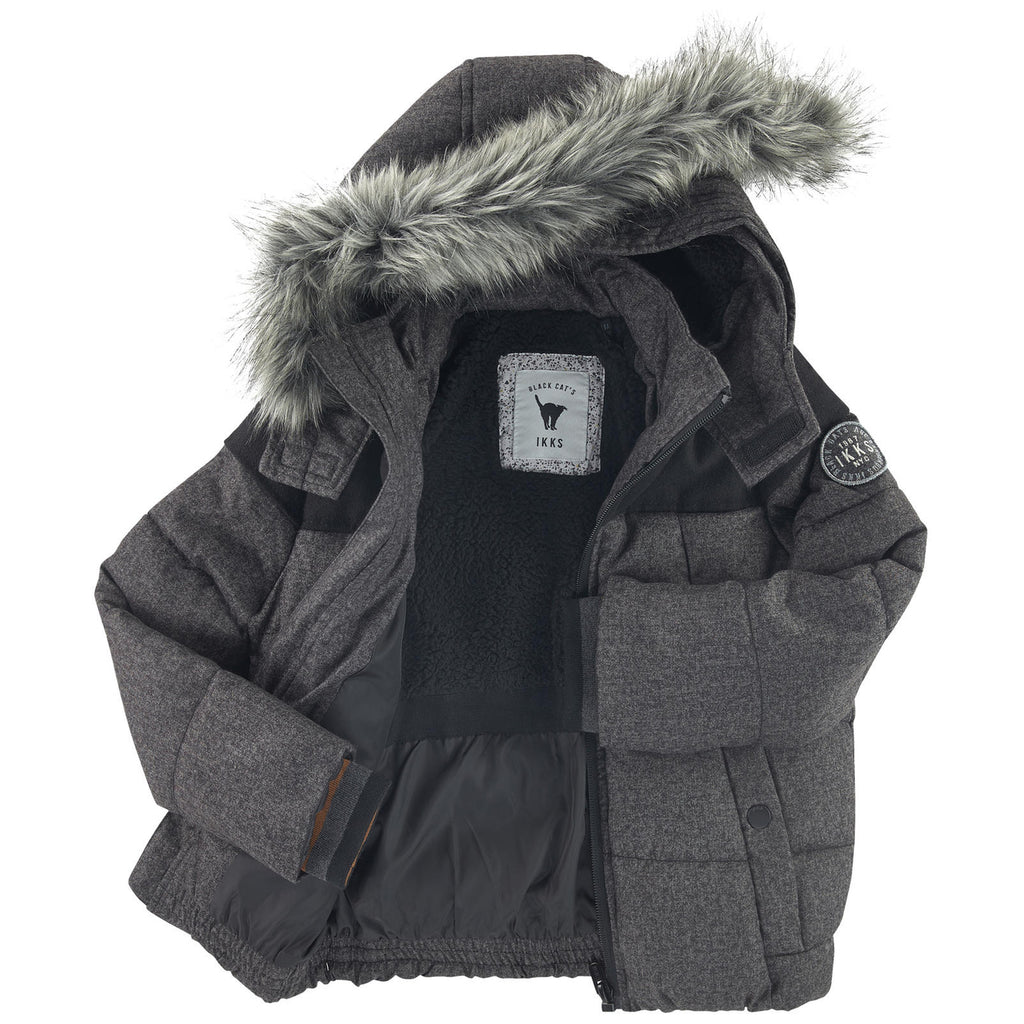 IKKS Boys Grey Waterproof Padded Jacket