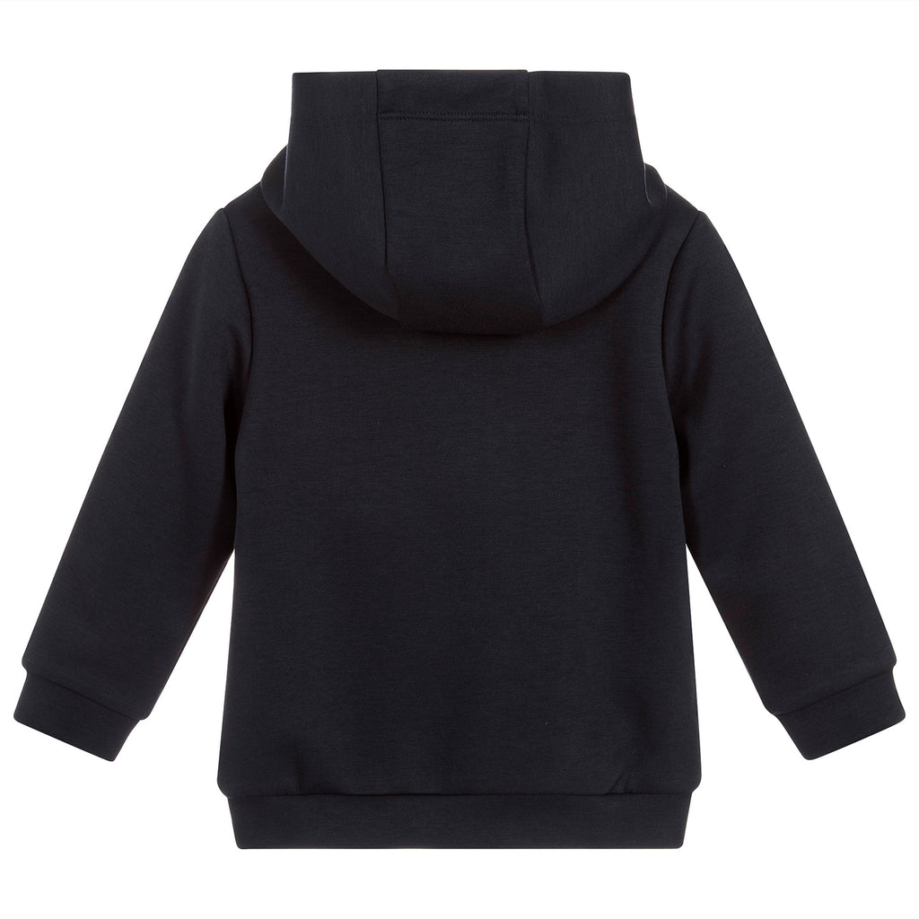 IKKS Boys Navy Blue Hooded Sweatshirt with Print