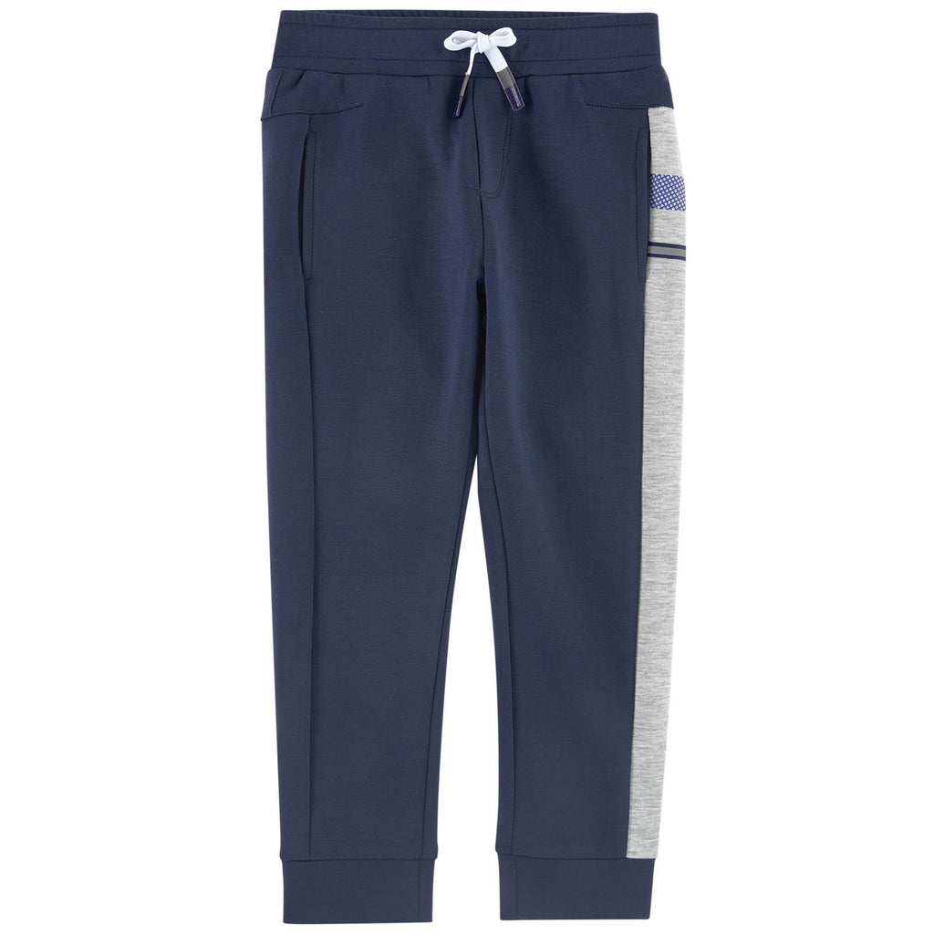 IKKS Boys Navy & Grey Comfy Sweatpants