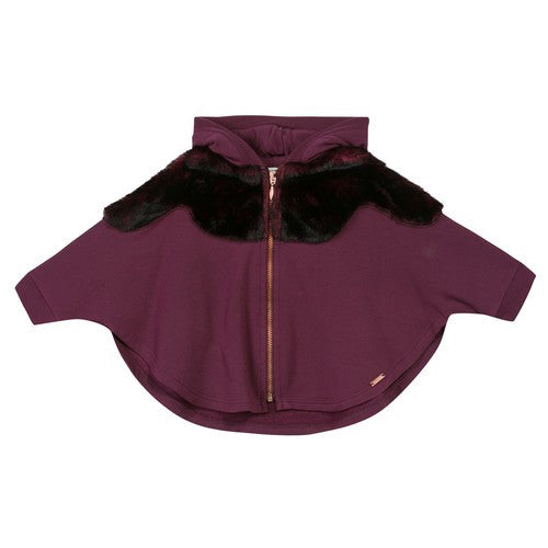 Junior Gaultier Baby Girls Plum Sweater Baby Sweaters & Sweatshirts Junior Gaultier [Petit_New_York]