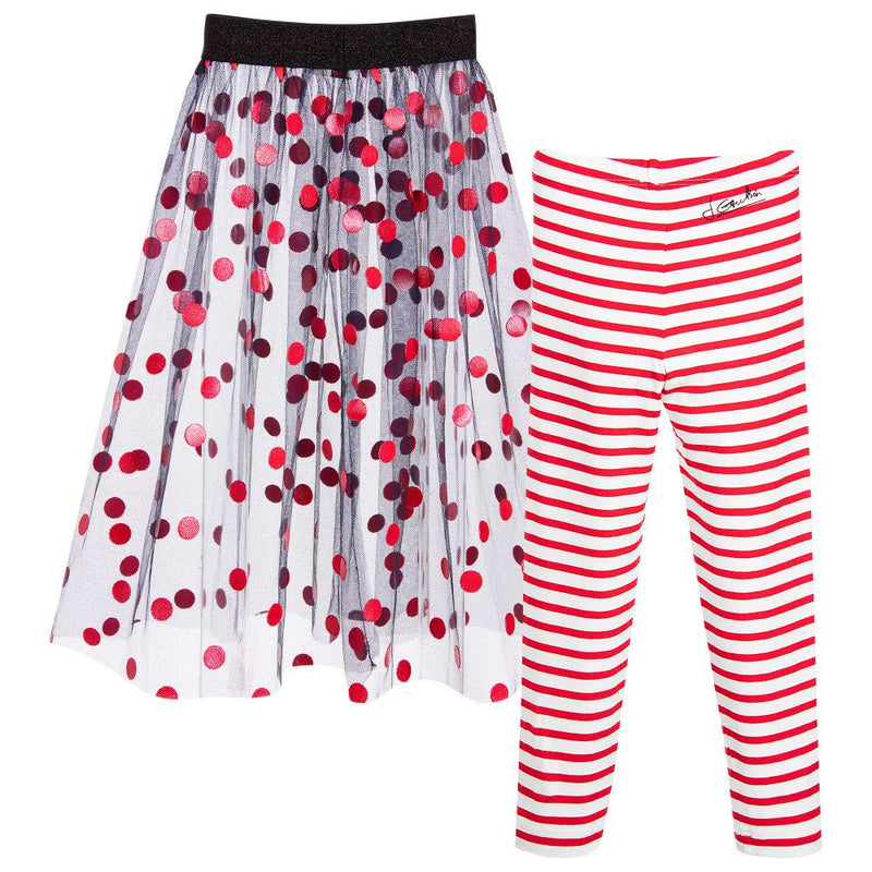Junior Gaultier Girls Tulle Skirt & Leggings Set Girls Leggings Junior Gaultier [Petit_New_York]