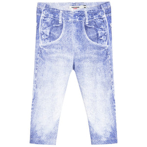 Junior Gaultier Baby Denim Print Leggings Baby Bottoms Junior Gaultier [Petit_New_York]