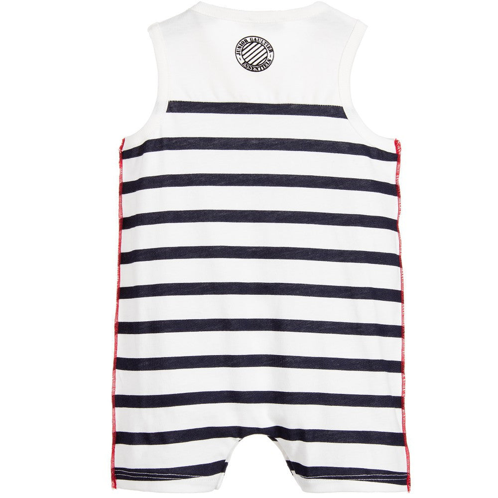 Junior Gaultier Baby Striped Onesie Baby Rompers & Onesies Junior Gaultier [Petit_New_York]