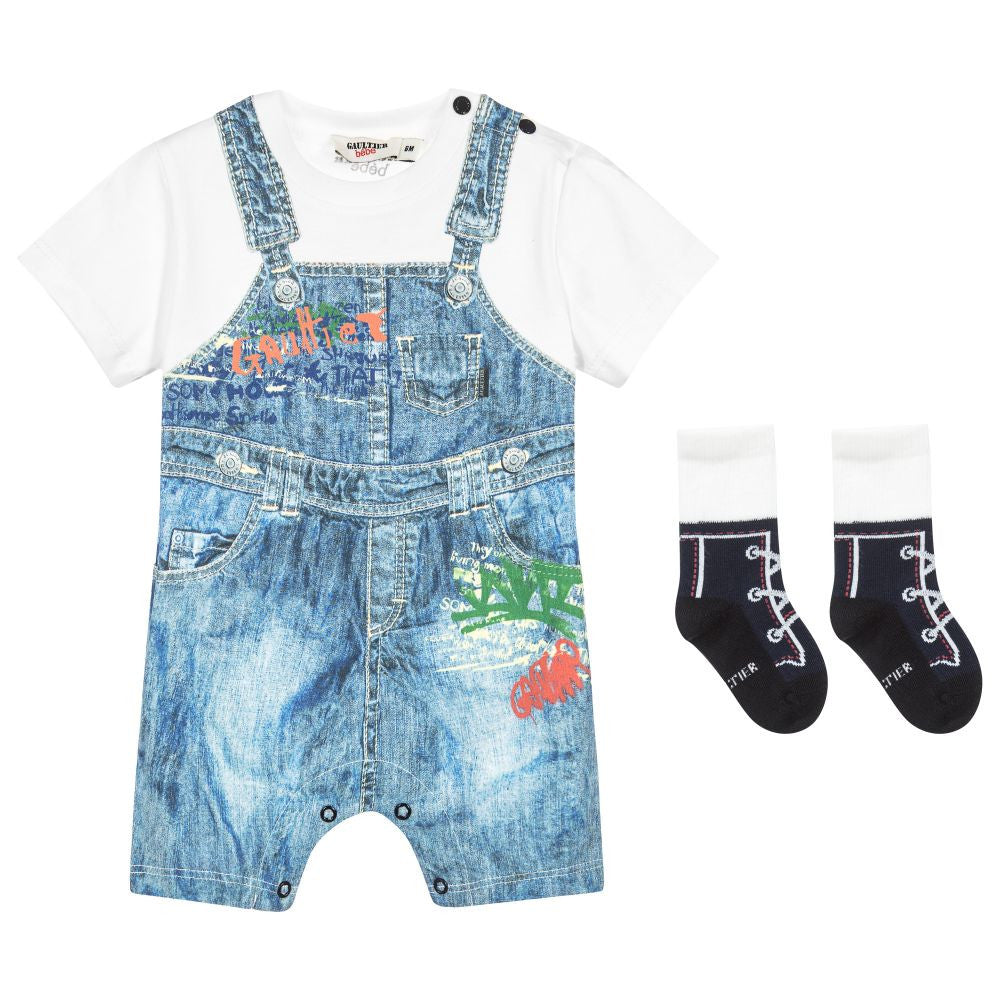 Junior Gaultier Baby Boys Romper Gift Set Baby Rompers & Onesies Junior Gaultier [Petit_New_York]