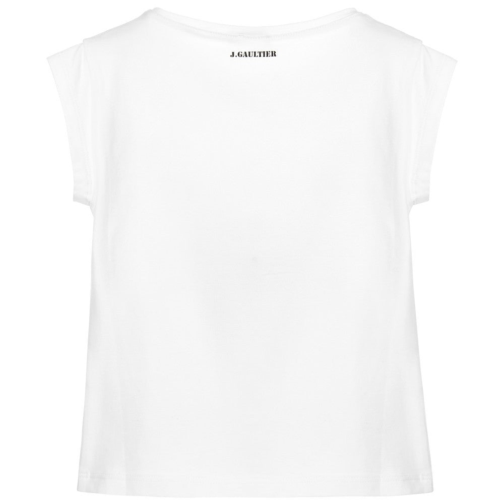 Junior Gaultier Girls Printed Girl T-Shirt Girls Tops Junior Gaultier [Petit_New_York]