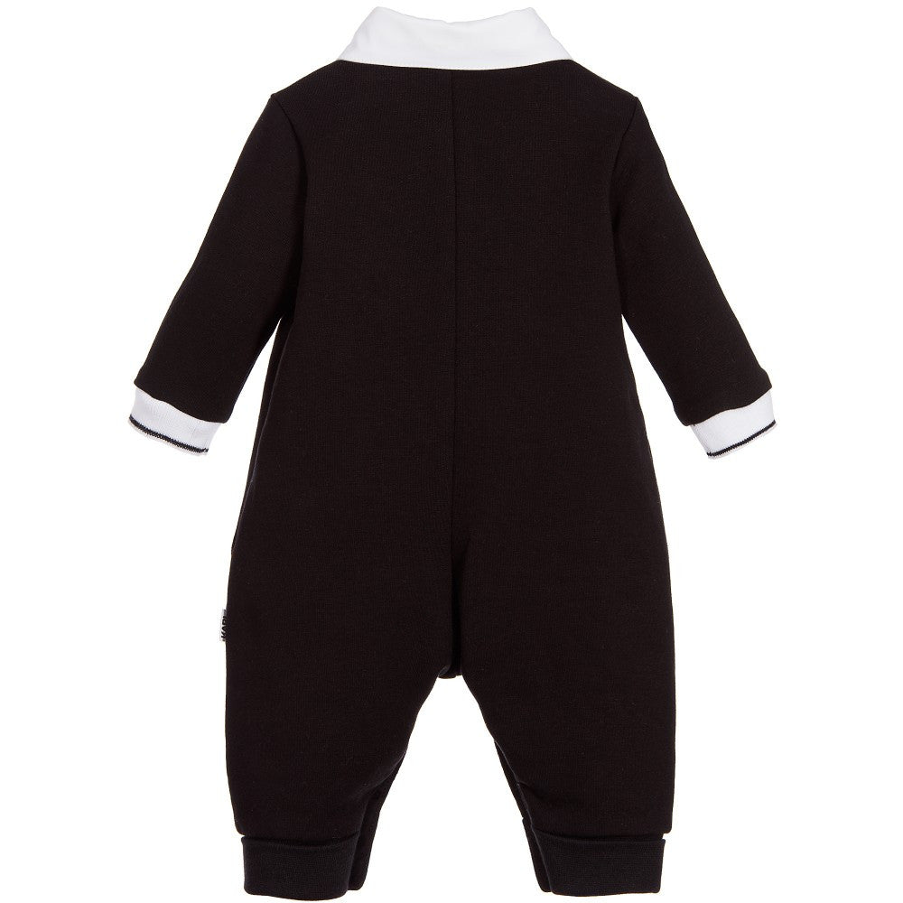 Karl Lagerfeld Baby Boys Black Babygrow Onesie with Collar | New Collection Baby Rompers & Onesies Karl Lagerfeld Kids [Petit_New_York]
