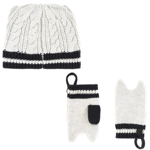 Karl Lagerfeld Baby Choupette Hat and Mittens Set Baby Hats, Scarves & Gloves Karl Lagerfeld Kids [Petit_New_York]