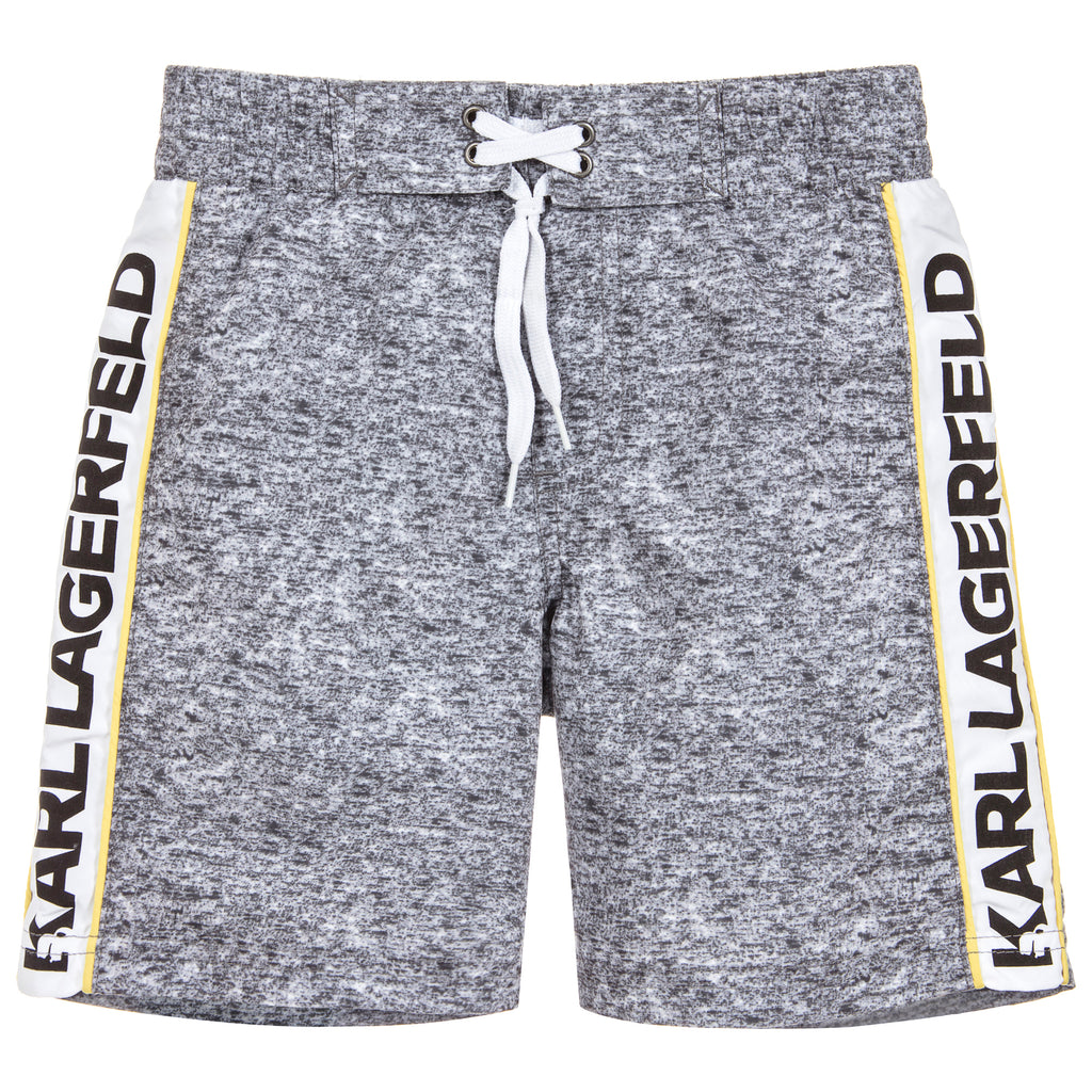Boys Grey Logo Swim Shorts