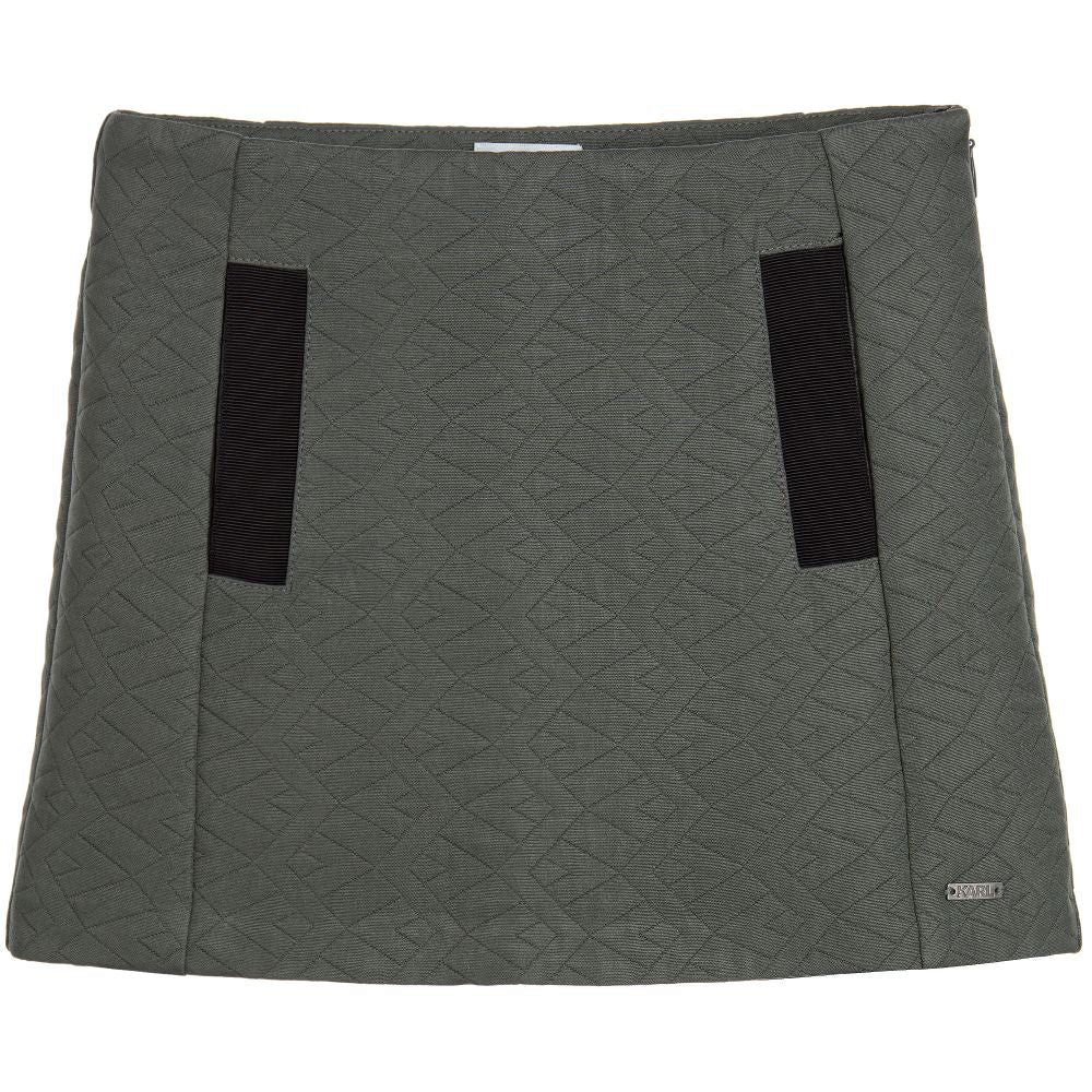 Karl Lagerfeld Girls Grey Quilted Texture Skirt Girls Skirts Karl Lagerfeld Kids [Petit_New_York]