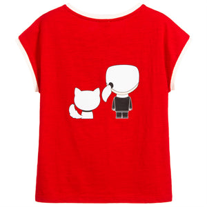 Girls Red 'Karl & Choupette' T-shirt