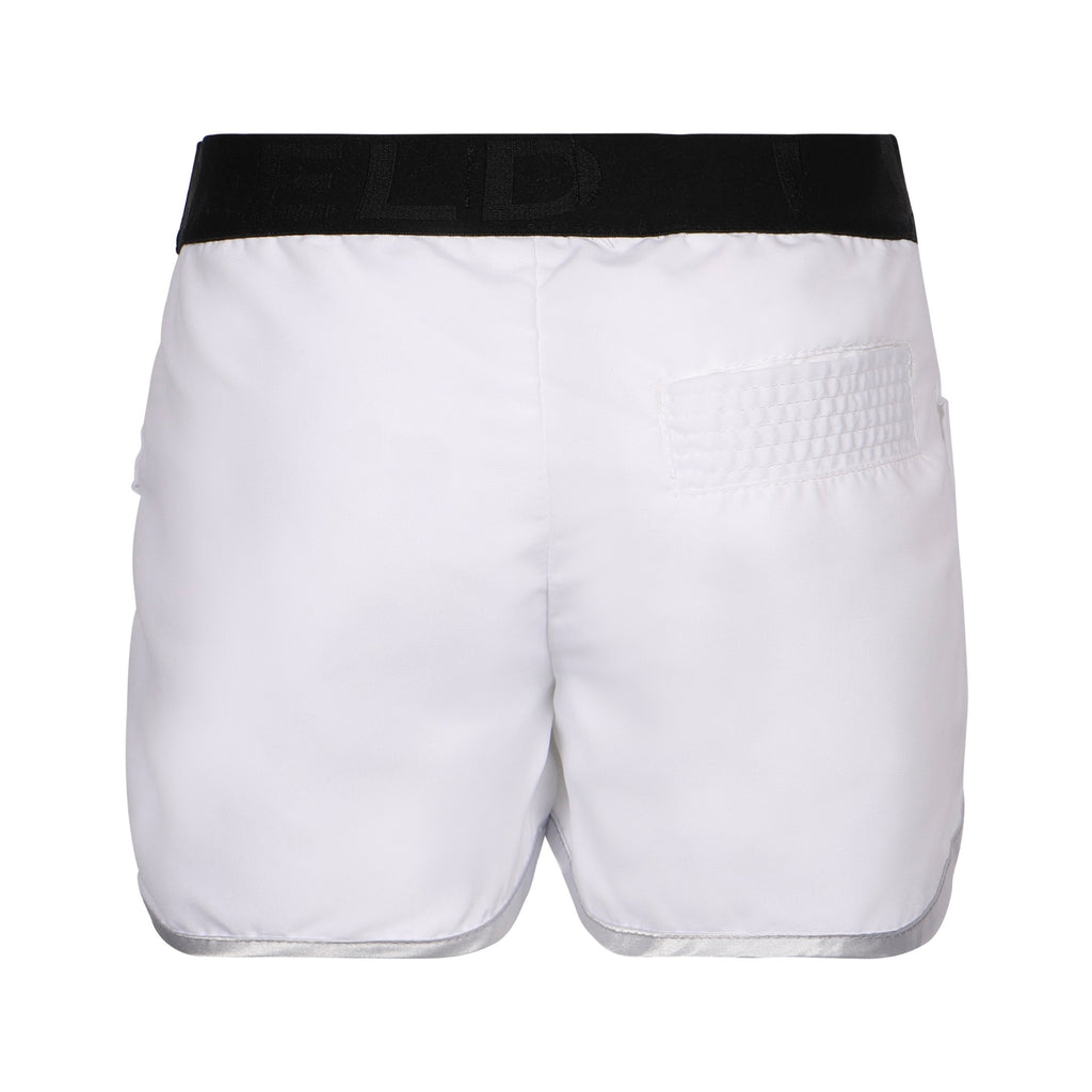 Girls White Sporty Shorts
