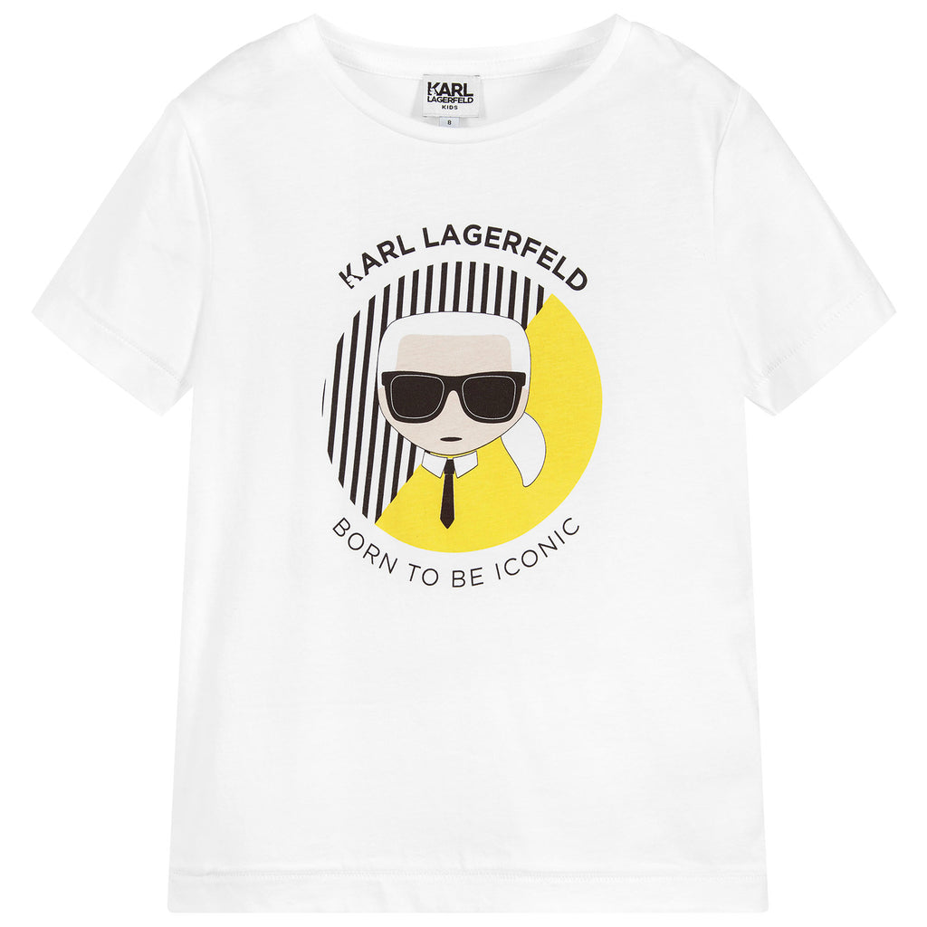Unisex White 'Karl Iconic' T-shirt (Mini-Me)