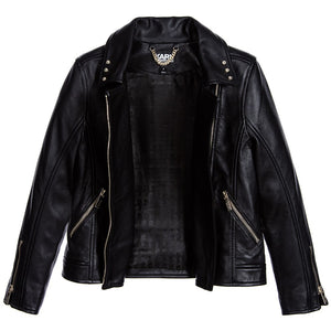 Karl Lagerfeld Girls Leather Biker Jacket Girls Jackets & Coats Karl Lagerfeld Kids [Petit_New_York]