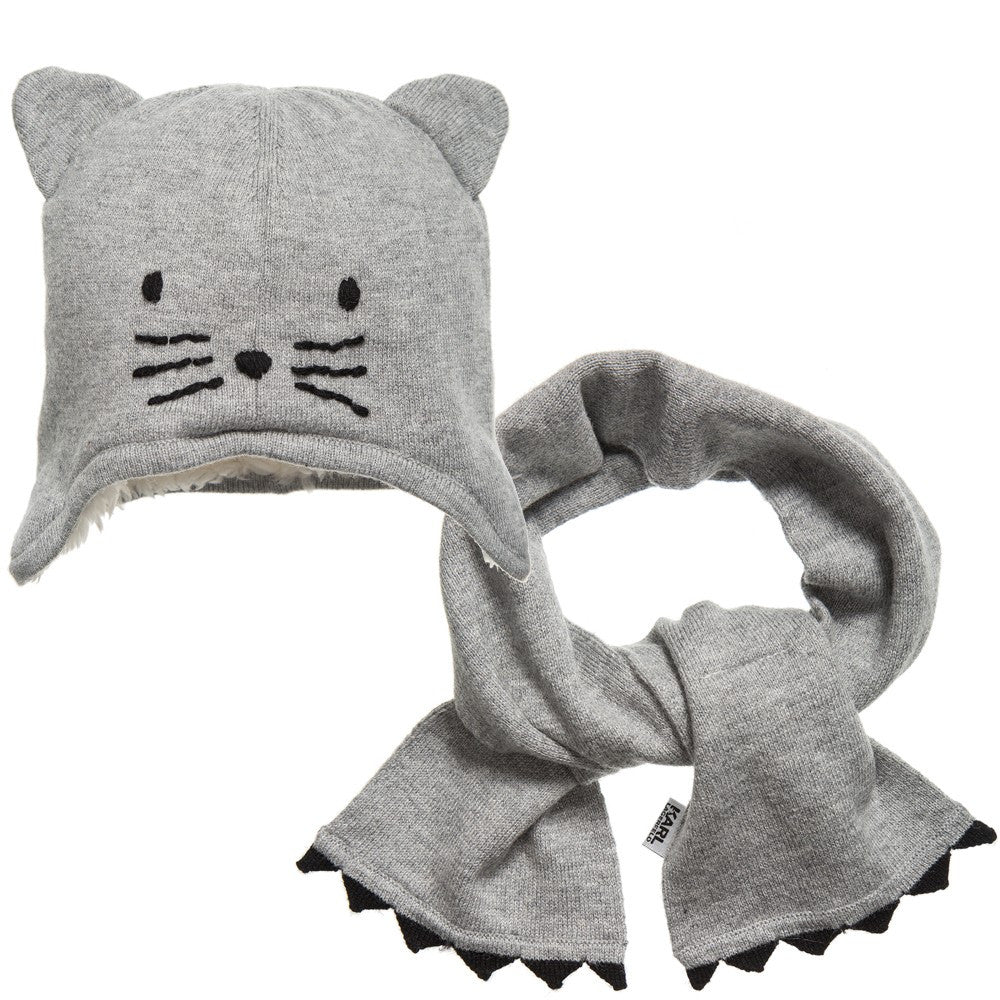 Karl Lagergeld Baby Choupette Hat & Scarf Gift Set Baby Hats, Scarves & Gloves Karl Lagerfeld Kids [Petit_New_York]