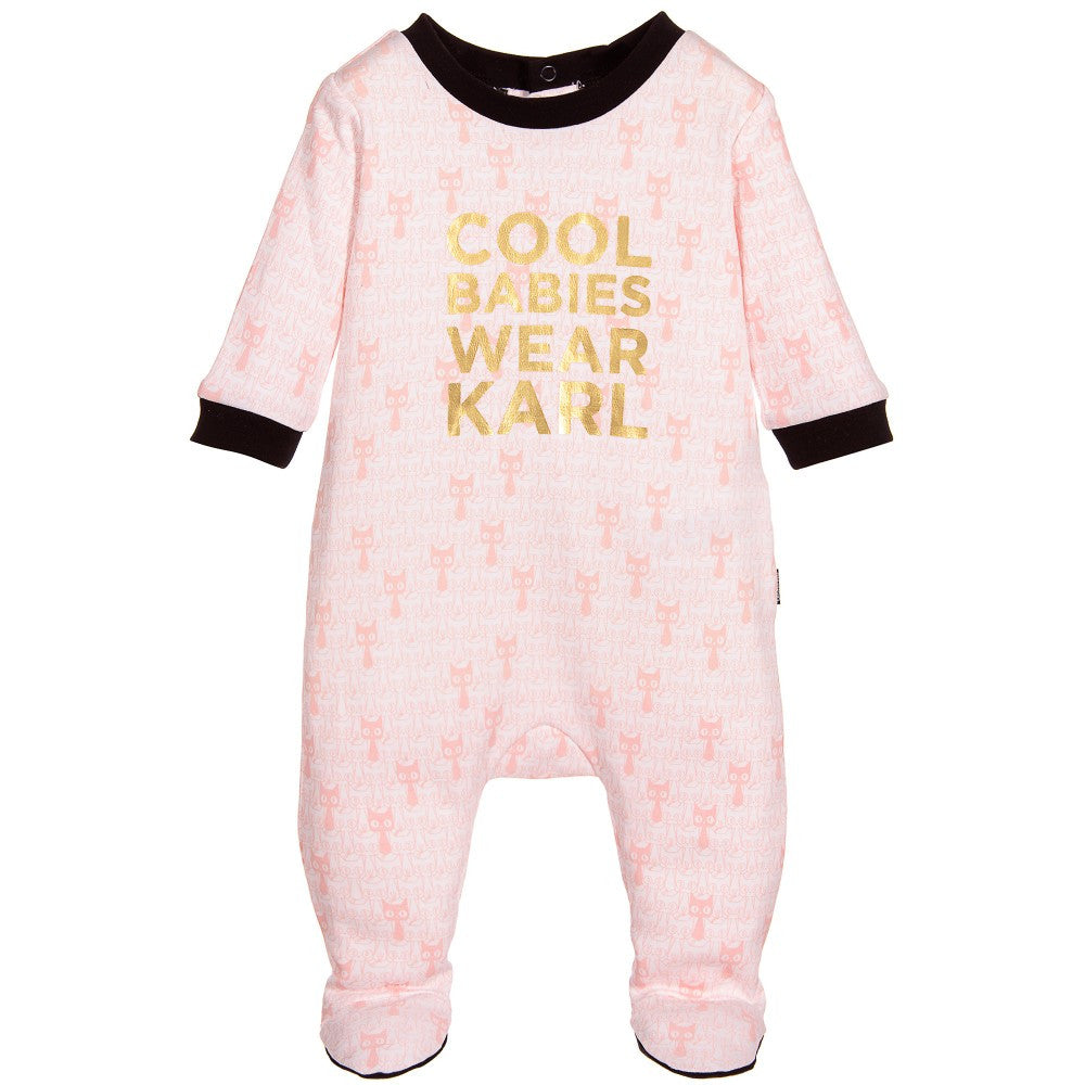 Karl Lagerfeld Baby Girls Choupette & Black Cat Romper Gift Set Baby Rompers & Onesies Karl Lagerfeld Kids [Petit_New_York]